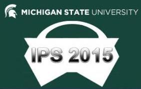 IPS2015, May 31st to June 2nd. Michigan State University.