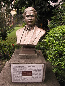 Bust of Ramanujan in the garden of Birla Industrial & Technological Museum (source: Wikipedia).