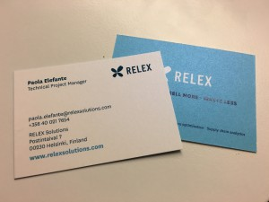 Fresh from print, my business cards.